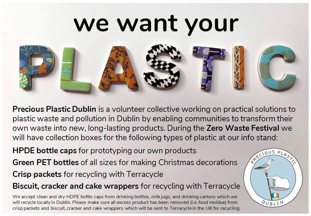 Precious Plastic Dublin at the Zero Waste Christmas Festival