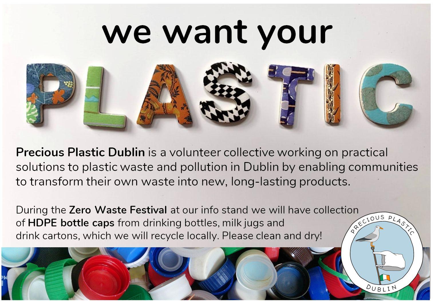 Precious Plastic Dublin at the Zero Waste Festival at the Science Gallery